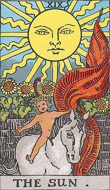 画像:タロットカード 大アルカナ 太陽