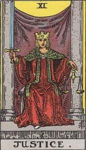 Tarot Major arcana 11 Justice